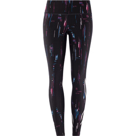 2XU Print Mid-Rise Kompressions Tights Damen frequency boysenberry/white